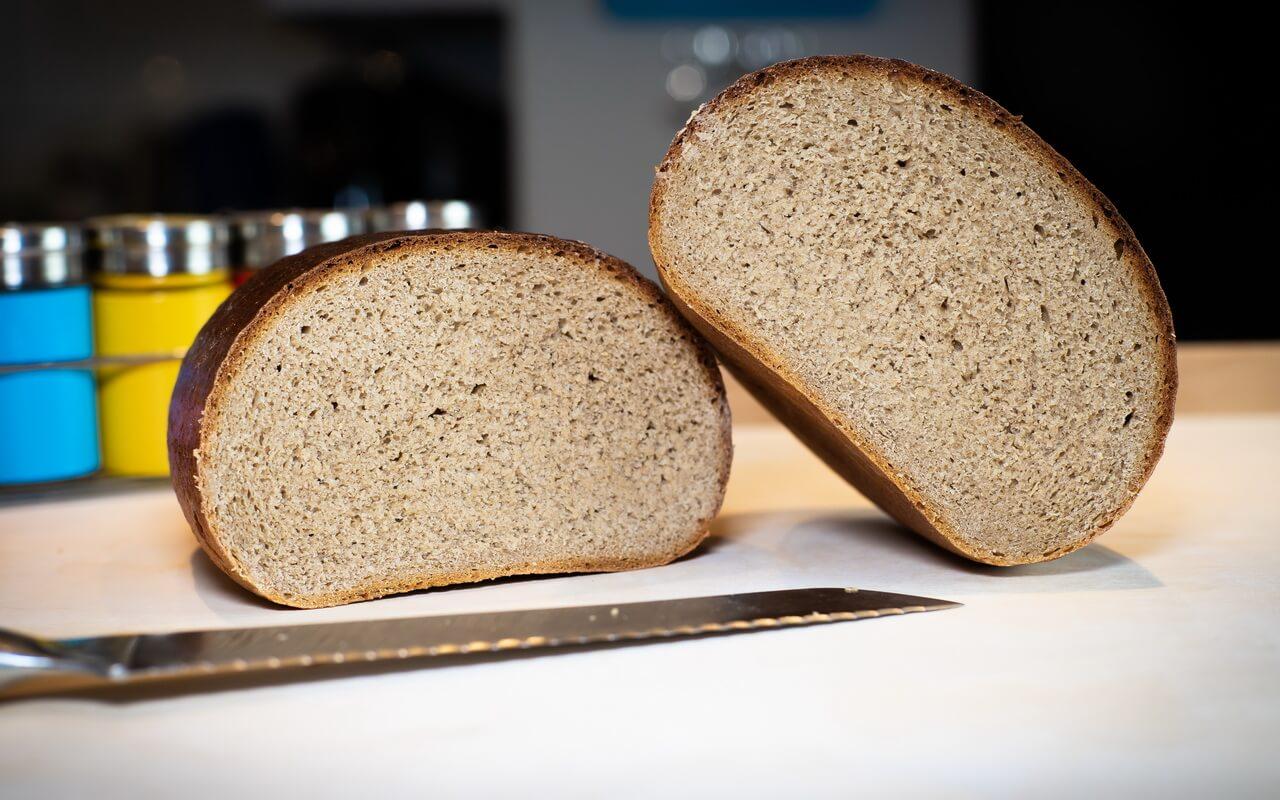 Rye wheat Bread 65 35 Both Halves