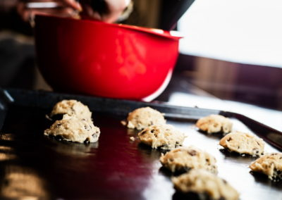 Soft Baked Chocolate Chip Cookies Shape With Ice Scoop 2