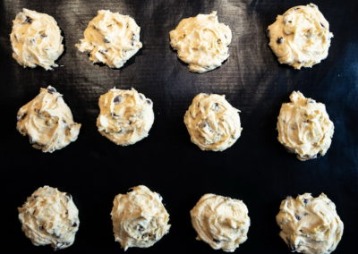 Soft Baked Chocolate Chip Cookies Shape With Tablespoons 2
