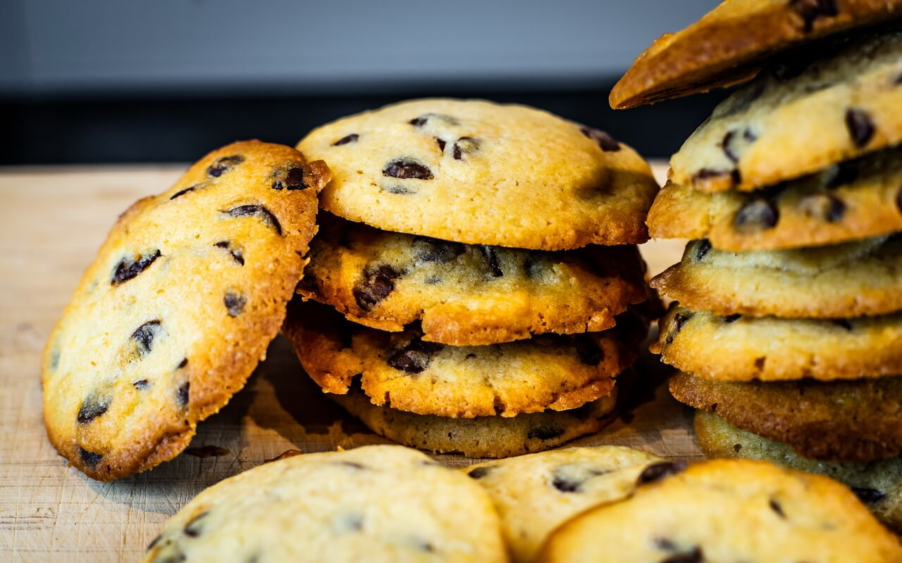 Soft Baked Chocolate Chip Cookies Staked 2