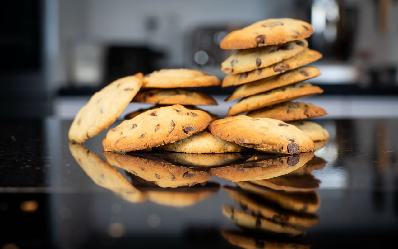 Soft Baked Chocolate Chip Cookies Staked