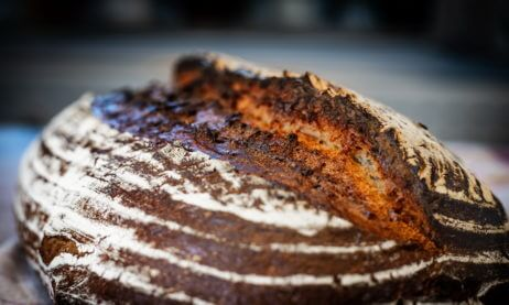 No Knead Dark Farmhouse Bread aka The Mountain