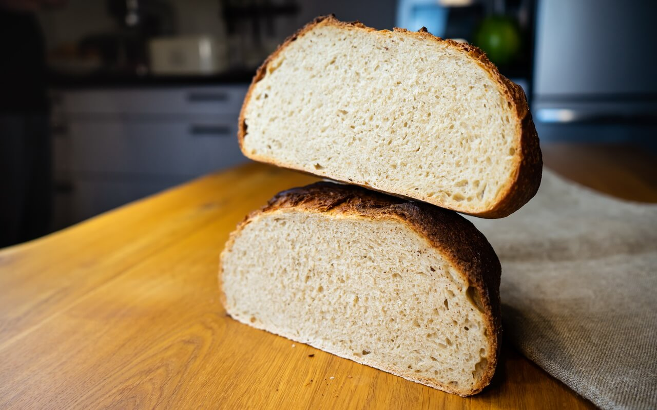 Sourdough Bread With All purpose and First Clear Flour Crumb