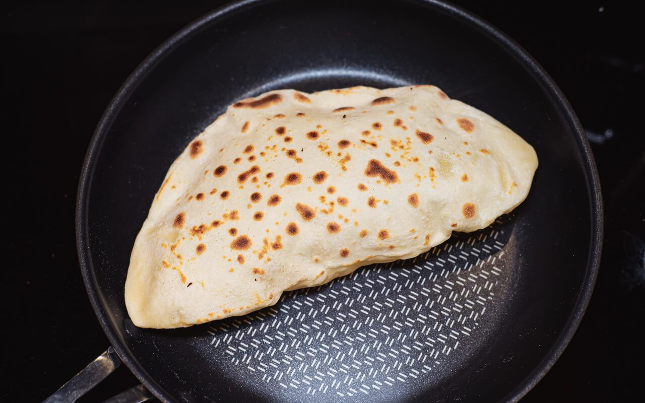 Indian Naan Bread In Pan