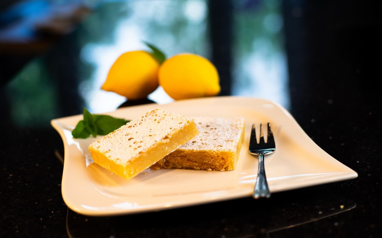 Lemon Bars On Plate