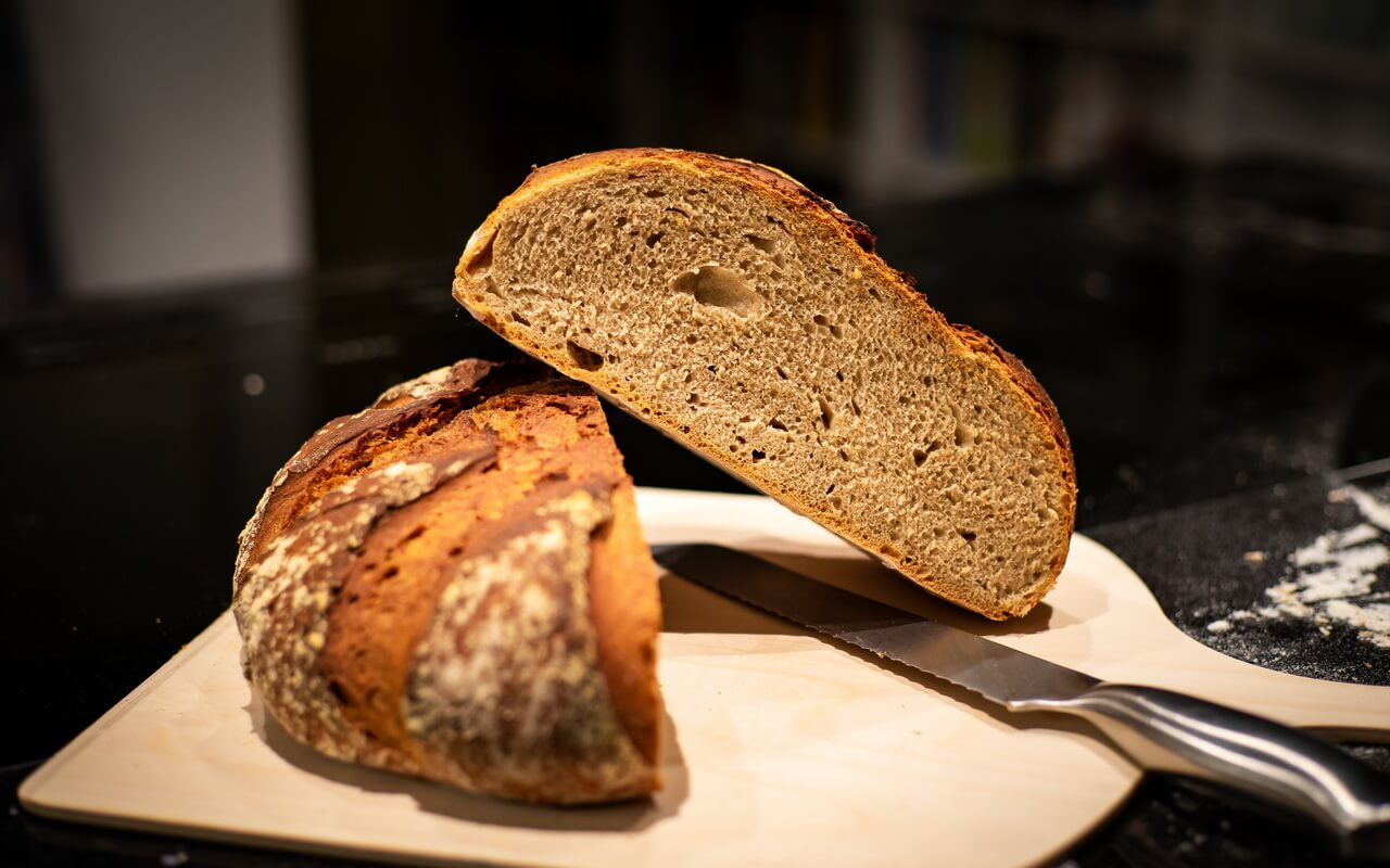 Light Rye Mixed With High gluten Flour Bread Crumb