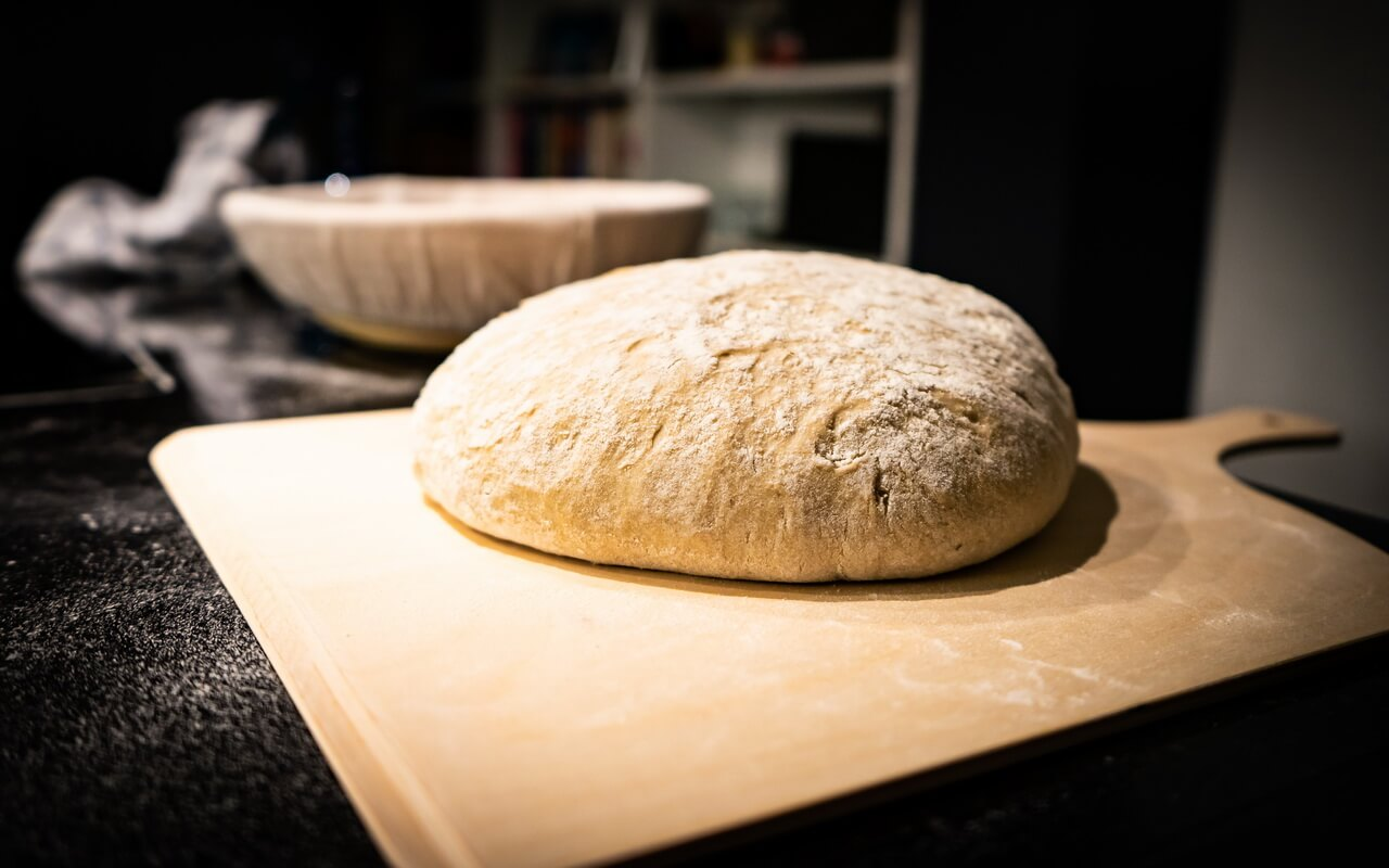 Light Rye Mixed With High gluten Flour Bread Dough