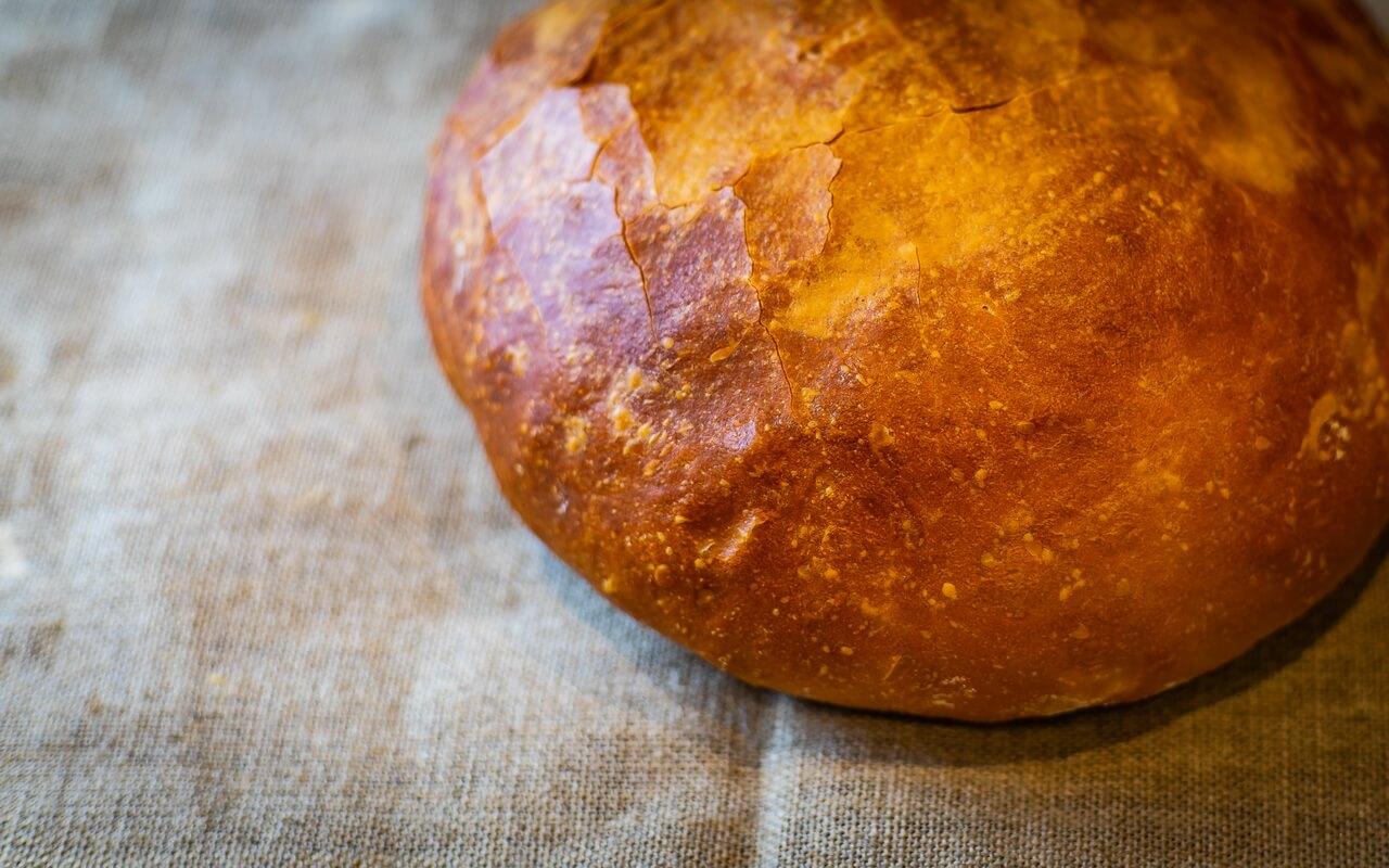 Little Effort White Loaf Round Close Up