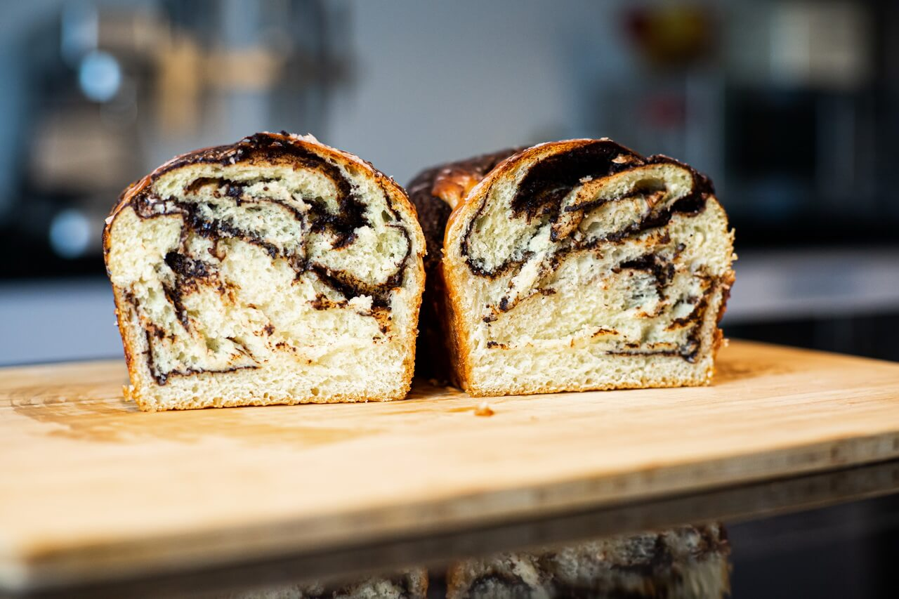 Chocolate Babka Crumb Inside