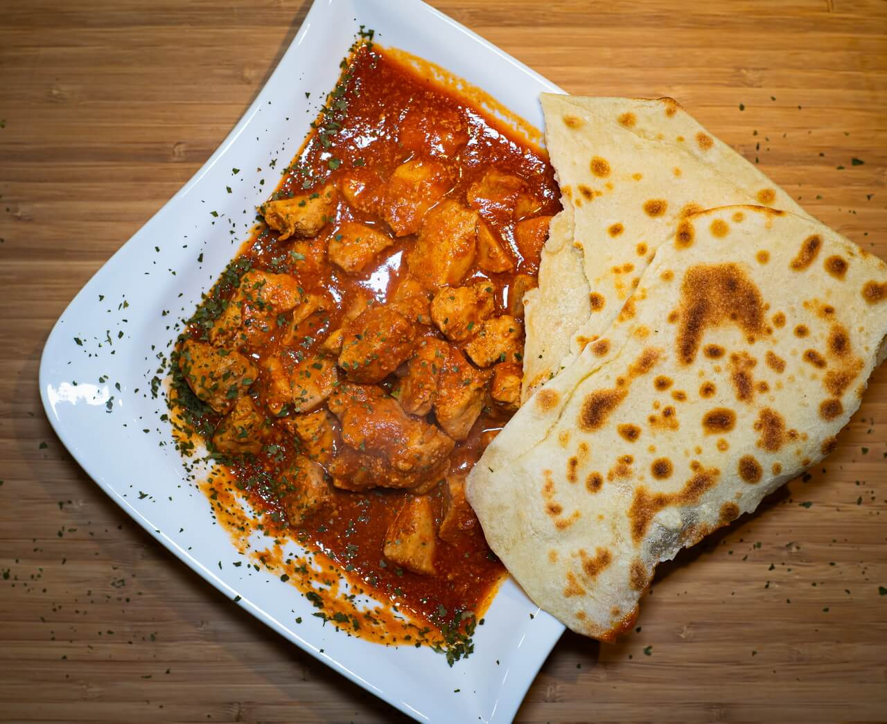 Indian Naan Bread Butter Chicken