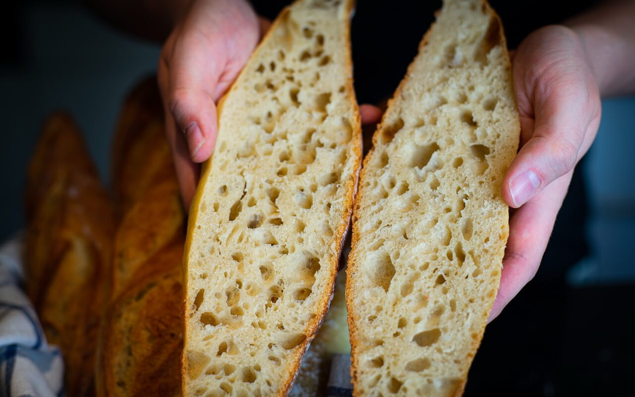 One Of The Best Baguettes From France Crumb Close up