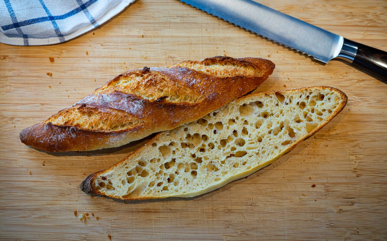 One Of The Best Baguettes From France Crumb