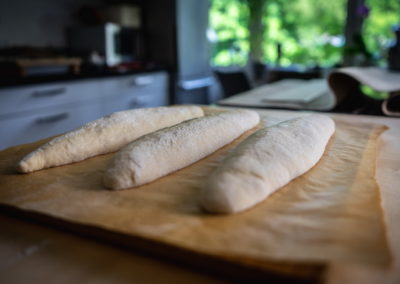 One Of The Best Baguettes From France Just Before Baking