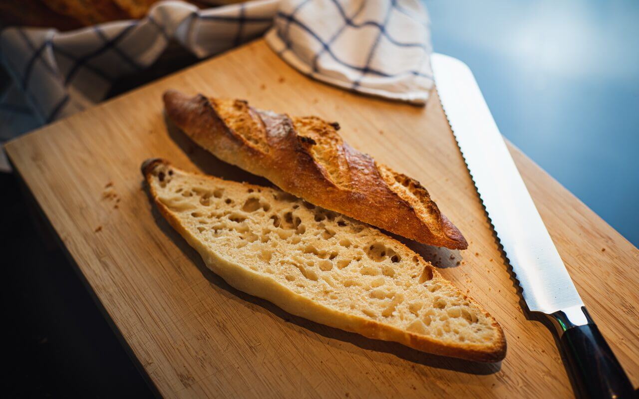 One Of The Best Baguettes From France Sliced
