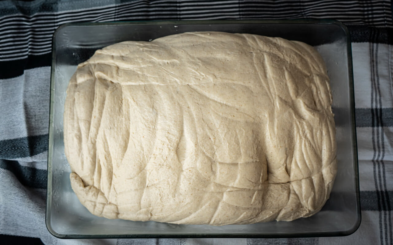 Easy To Make Bread Rolls Dough After Bulk Fermentation
