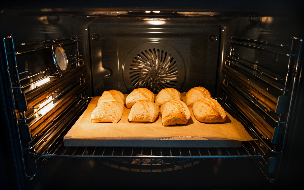 Easy To Make Bread Rolls In The Oven After Baking