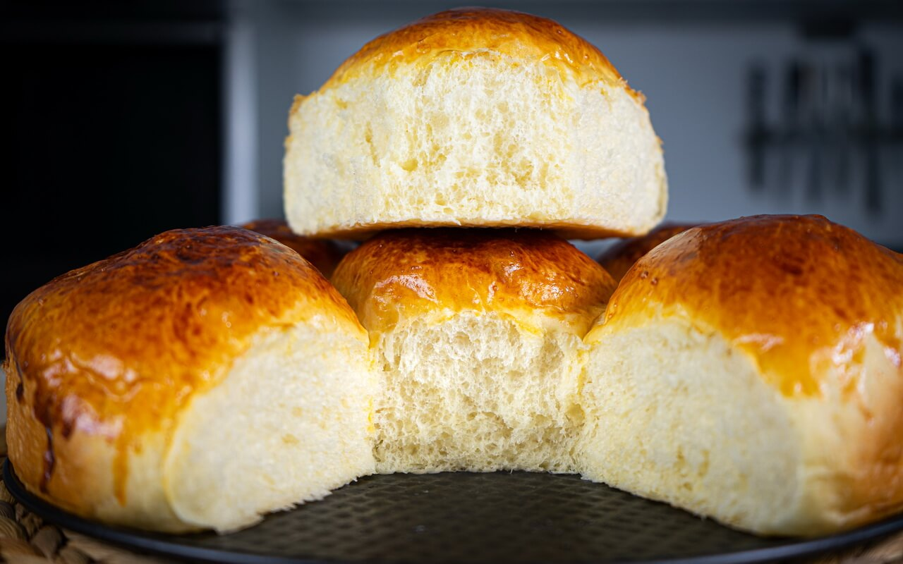 Soft And Fluffy Milk Bread Rolls Crumb