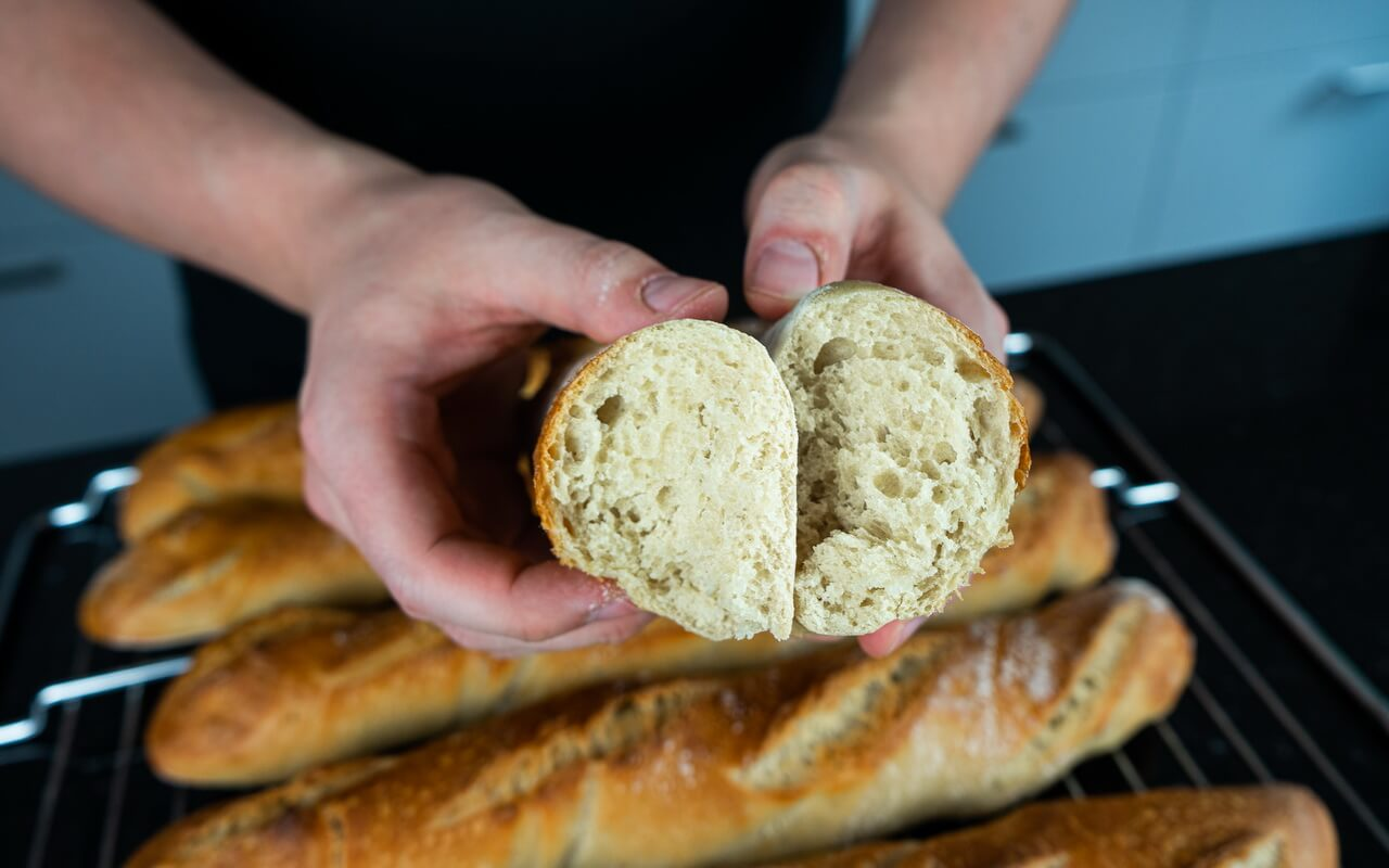 Twisted Baguettes Crumb