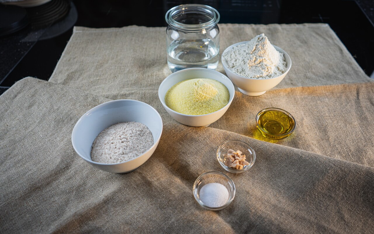 Pizza Dough With Hard Wheat Semolina Ingredients