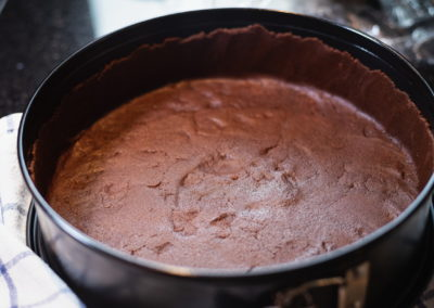 Chocolate Cheesecake aka Russischer Zupfkuchen Coarseed Springform Pan 3