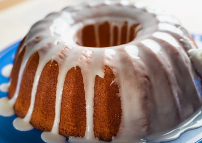 Juicy Orange Cake Glazing