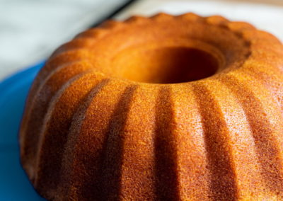 Juicy Orange Cake Without Glaze Close up