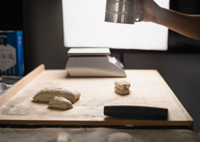 Rustic Baguette Rolls Flouring