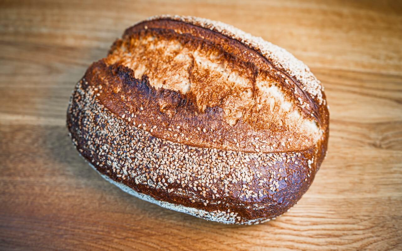Sourdough Loaf With Sesame Seeds