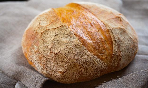 The Big Fluffy Round Sourdough Bread