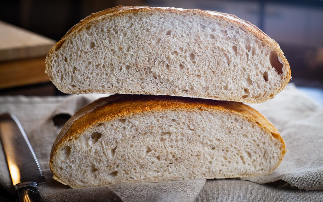 The Big Fluffy Round Sourdough Bread Crumb