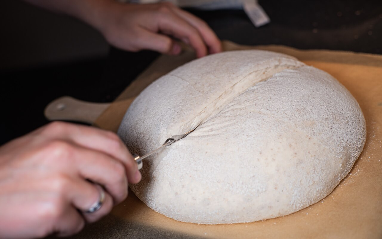 The Big Fluffy Round Sourdough Bread Scoring