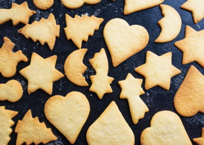 Classic Christmas Cookies After Baking