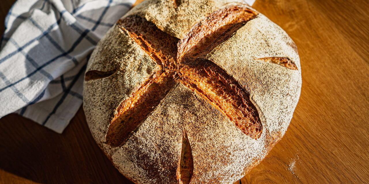 Sunny Spelt Sourdough Bread