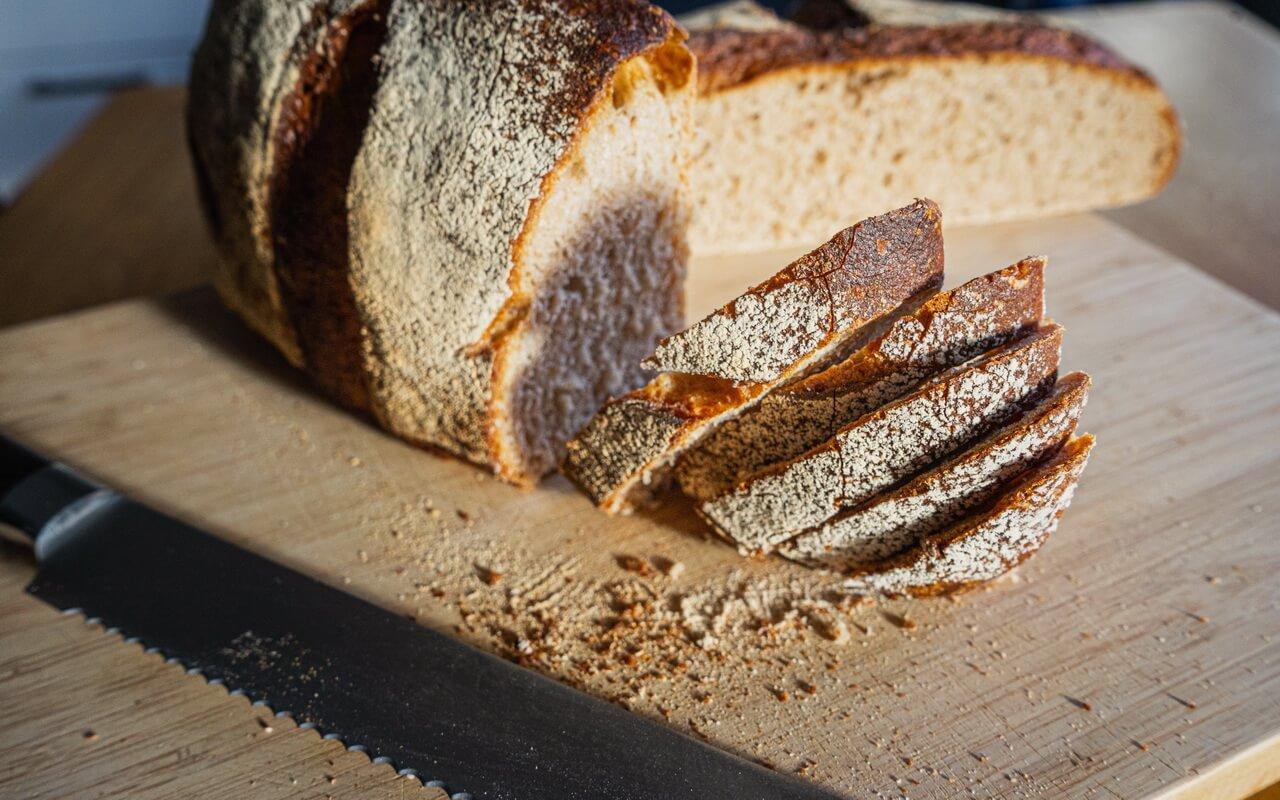Sunny Spelt Sourdough Bread Cut