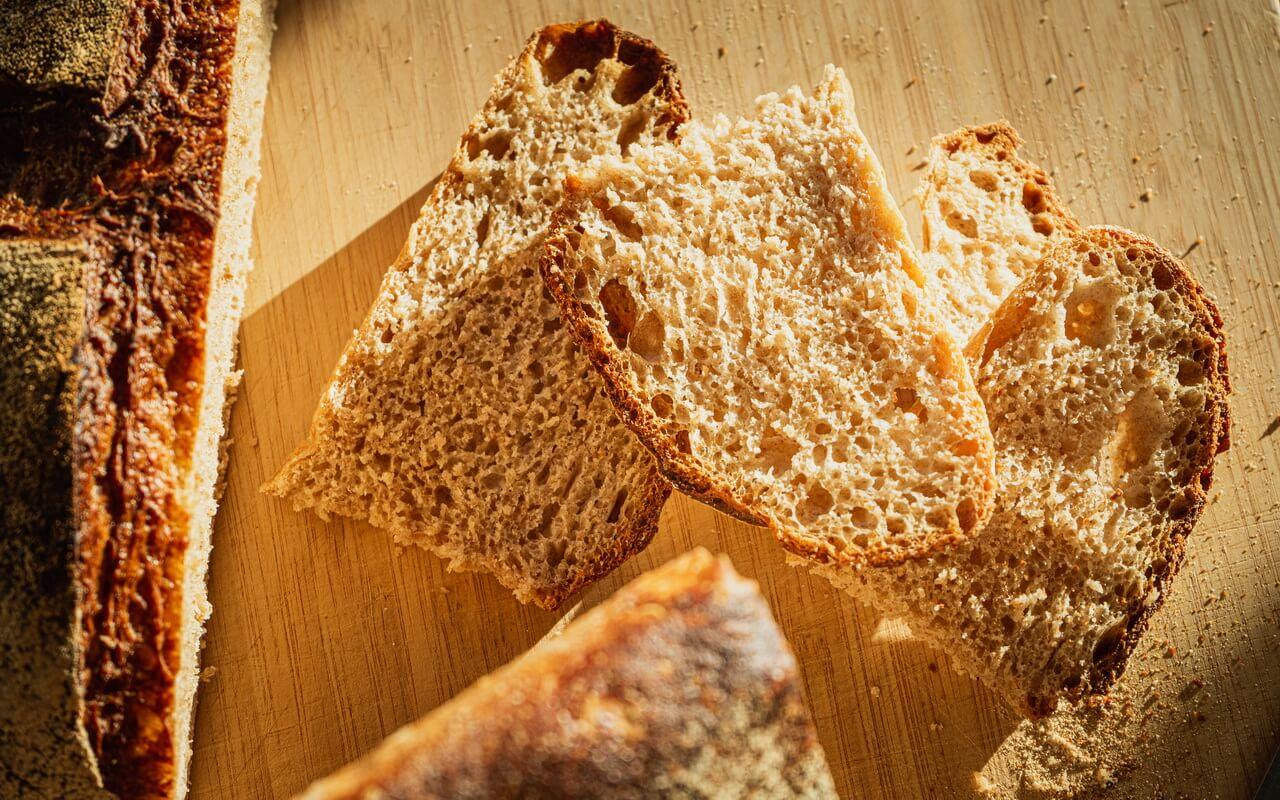 Sunny Spelt Sourdough Bread Slices
