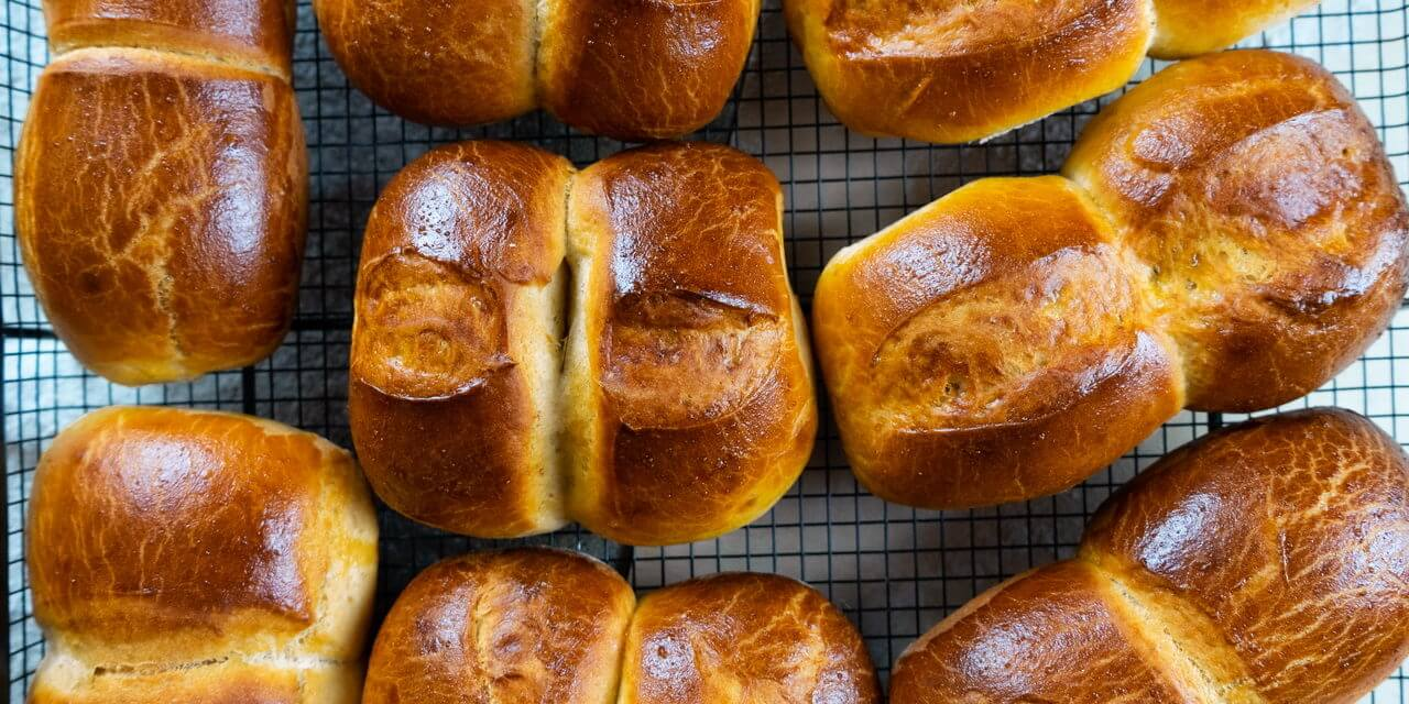 Twin Milk Bread Rolls