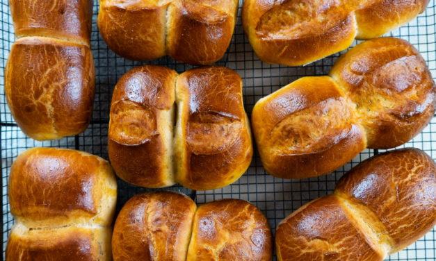 Twin Milk Bread Rolls