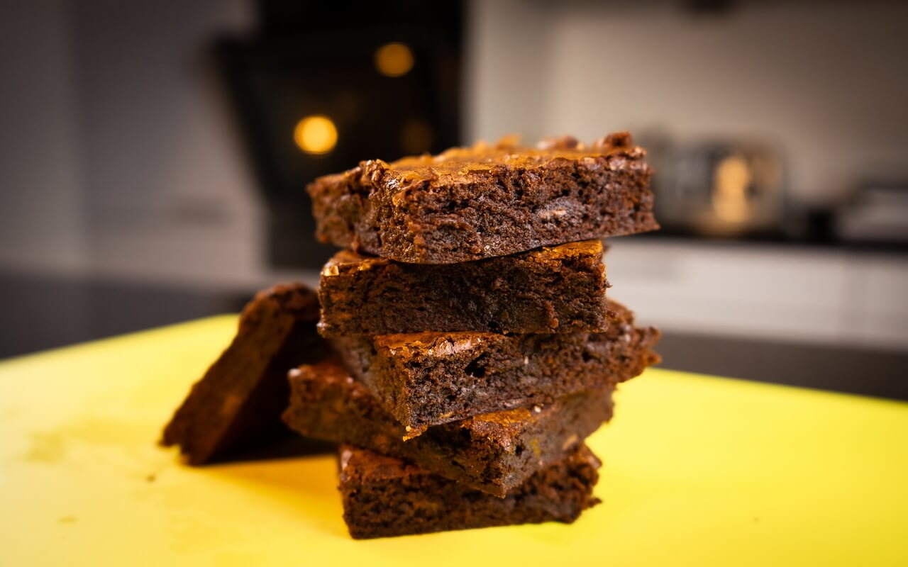 Fudgy Chocolate Brownies Stacked