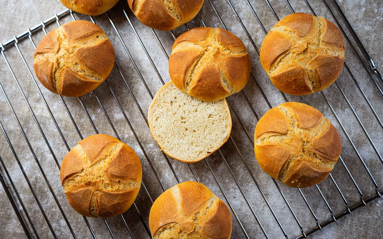 Kaiser Rolls Like In Our Childhood Crumb