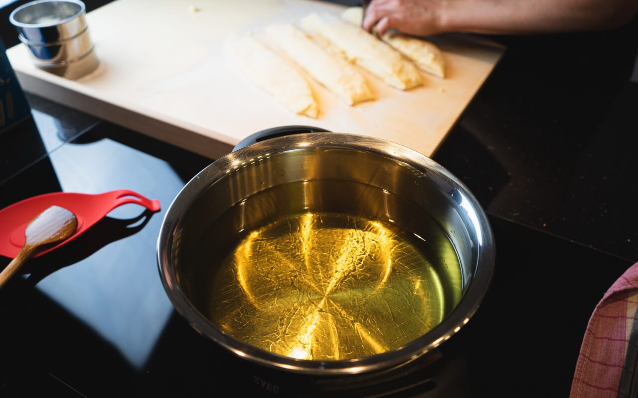 New Years Eve Doughnuts Frying