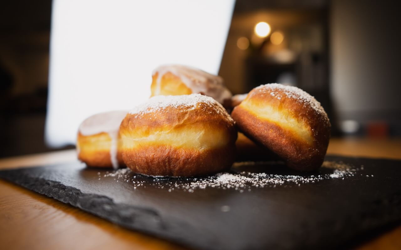 New Years Eve Doughnuts Side View