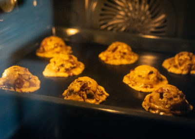 Chocolate Chip Crush Cookies From Levain Bakery During Baking