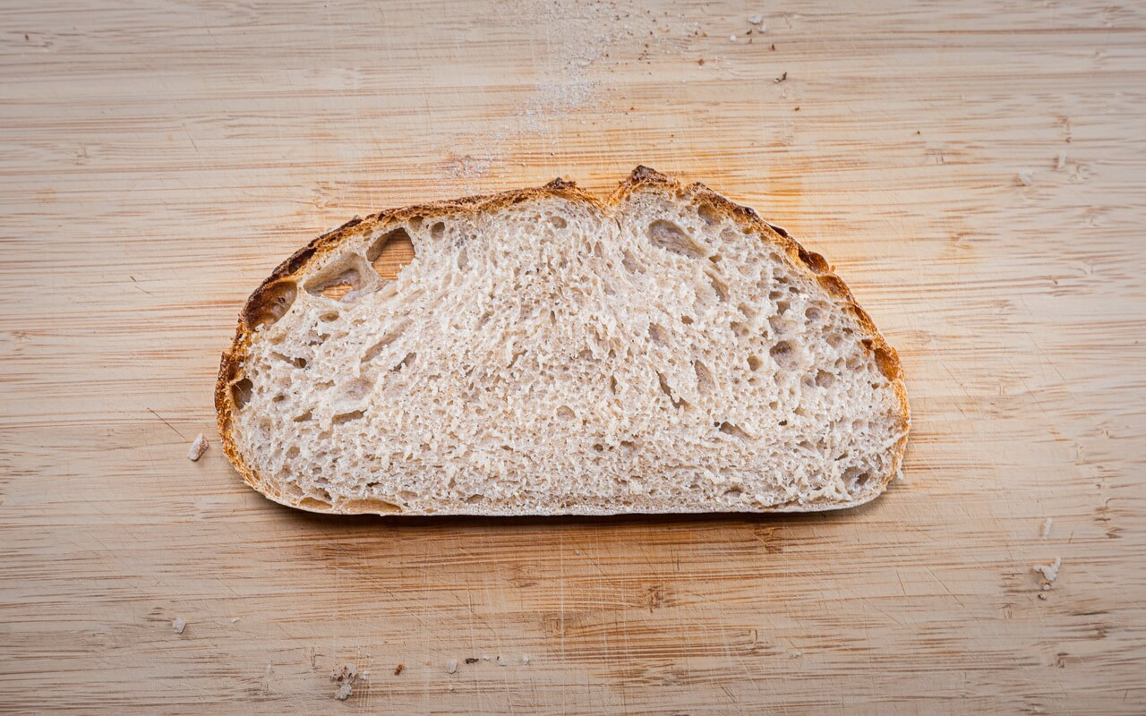 Rustic Mixed Wheat Loaf Crumb