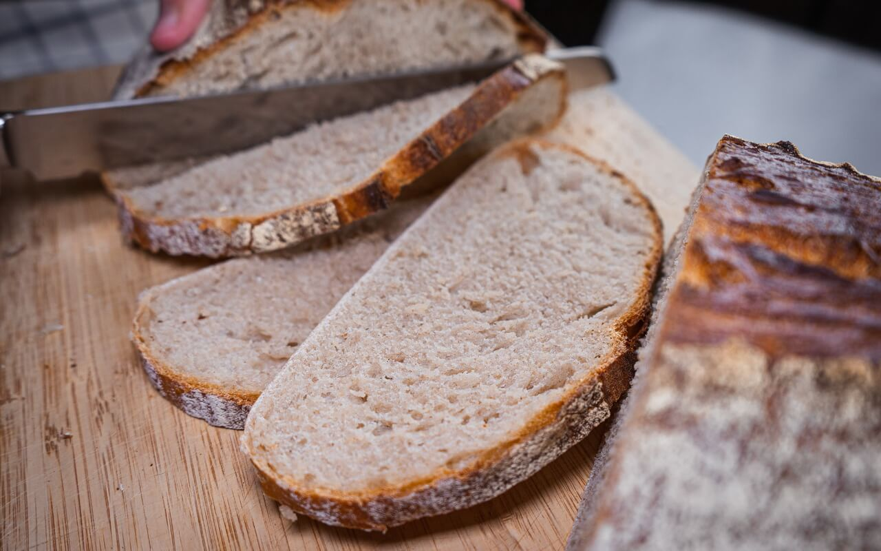 Rustic Mixed Wheat Loaf Slices