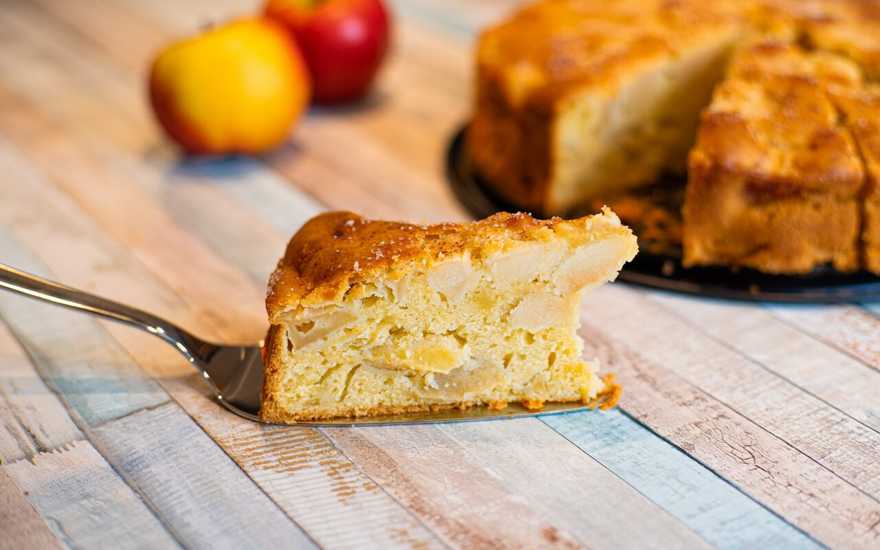 Grandmas Moist Cinnamon Apple Cake Single Piece