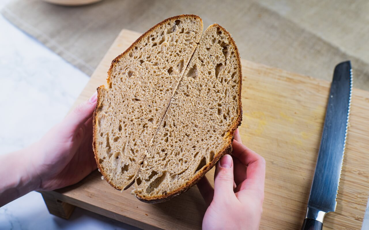 Sourdough Bread With 80 Hydration Crumb