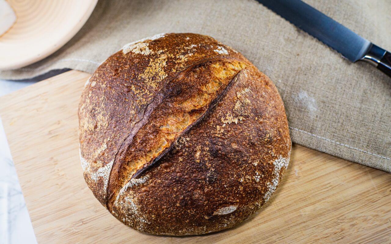 Sourdough Bread With 80 Hydration Crust