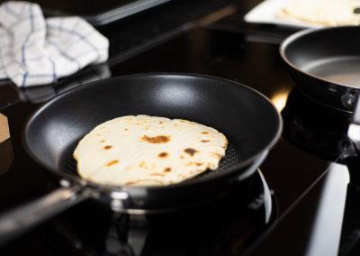 Wheat Tortillas For Fajitas Baking In Pan 2