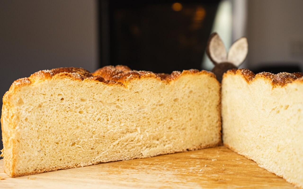 Paska Traditional Slovak Easter Bread Crumb