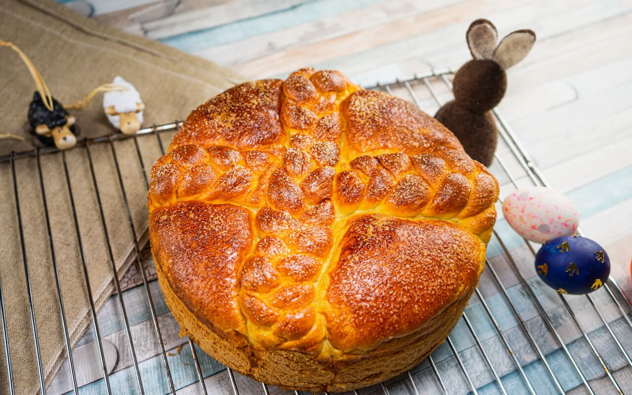 Paska Traditional Slovak Easter Bread Side View